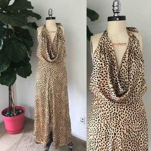 NEW House of Harlow Cowl Neck Jumpsuit in Leopard